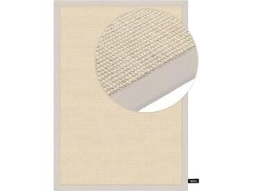 benuta NATURALS Kurzflor Teppich Sisal Cream 140x200 cm - Moderner Teppich für Wohnzimmer