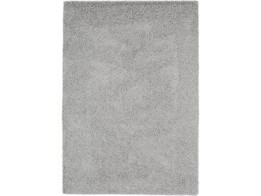 benuta ESSENTIALS Hochflor Shaggy Teppich Swirls Grau 133x190 cm - Langflor Teppich für Wohnzimmer