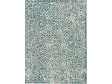 benuta CLASSIC Teppich Antique Türkis 80x150 cm - Vintage Teppich im Used-Look