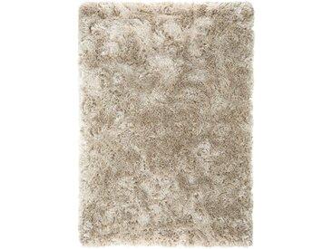 benuta ESSENTIALS Hochflor Shaggyteppich Bright Beige 120x170 cm - Langflor Teppich für Wohnzimmer