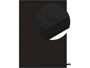 benuta NATURALS Kurzflor Teppich Sisal Schwarz 200x300 cm - Moderner Teppich für Wohnzimmer