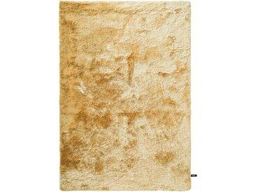 benuta ESSENTIALS Hochflor Shaggyteppich Whisper Gelb 80x150 cm - Bettvorleger für Schlafzimmer