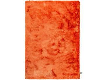 benuta ESSENTIALS Hochflor Shaggy Teppich Whisper Orange 120x170 cm - Langflor Teppich für Wohnzimmer