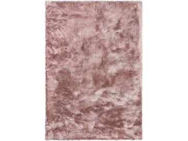 benuta ESSENTIALS Hochflor Shaggyteppich Whisper Rosa 140x200 cm - Langflor Teppich für Wohnzimmer