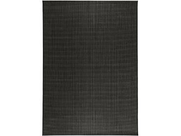 benuta PLUS In- & Outdoor Teppich Metro Sisal Optik Schwarz 200x290 cm - Outdoor-Teppich für Balkon & Garten