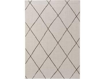 benuta PLUS In- & Outdoor Teppich Metro Cream 160x230 cm - Outdoor-Teppich für Balkon & Garten