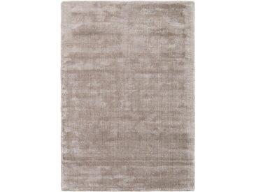 benuta ESSENTIALS Kurzflor Teppich Donna Viscose Hellgrau 120x170 cm - Moderner Teppich für Wohnzimmer