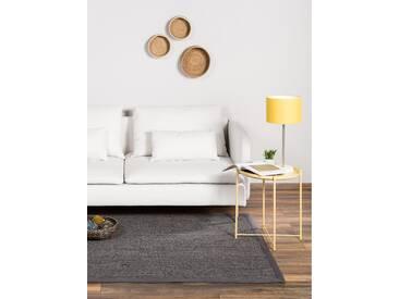benuta NATURALS Kurzflor Teppich Sisal Grau 80x150 cm - Moderner Teppich für Wohnzimmer