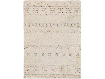 benuta TRENDS Hochflorteppich Gobi Beige 80x150 cm - Berber Teppich