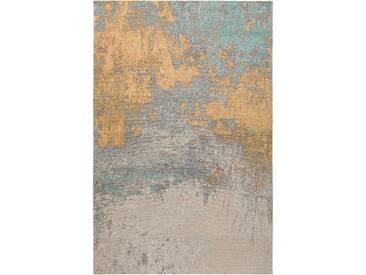 benuta TRENDS Flachgewebeteppich Frencie Beige/Blau 80x165 cm - Vintage Teppich im Used-Look