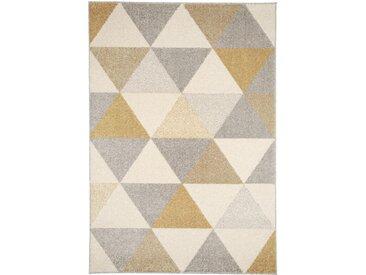 benuta Kurzflor Teppich Pastel Geomet Gelb 120x170 cm - Moderner Teppich für Wohnzimmer