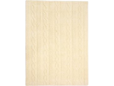 Lorena Canals Kinderteppich Trenzas Gelb 80x120 cm - Teppich für Kinderzimmer