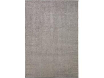 benuta CLASSIC Kurzflor Teppich Velvet Hellgrau 160x230 cm - Moderner Teppich für Wohnzimmer