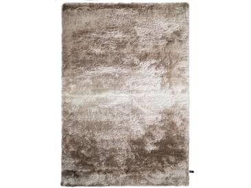 benuta ESSENTIALS Hochflor Shaggy Teppich Whisper Beige/Hellbraun 160x230 cm - Langflor Teppich für Wohnzimmer
