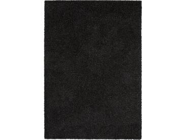 benuta ESSENTIALS Hochflor Shaggy Teppich Swirls Anthrazit 160x230 cm - Langflor Teppich für Wohnzimmer