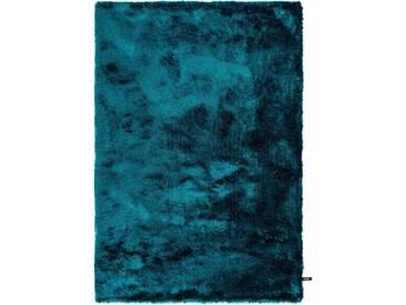 benuta ESSENTIALS Hochflor Shaggy Teppich Whisper Türkis 300x400 cm - Langflor Teppich für Wohnzimmer