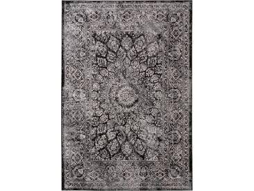 benuta CLASSIC Teppich  Velvet Schwarz 80x150 cm - Vintage Teppich im Used-Look