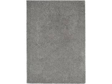 benuta ESSENTIALS Hochflor Shaggy Teppich Swirls Dunkelgrau 300x400 cm - Langflor Teppich für Wohnzimmer