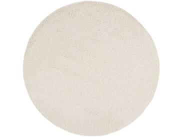 benuta ESSENTIALS Hochflor Shaggy Teppich Swirls Beige ø 120 cm rund - Langflor Teppich für Wohnzimmer