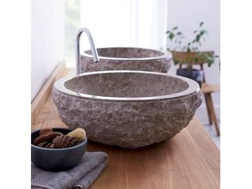 Aufsatzwaschbecken aus Marmor Scrula Grey