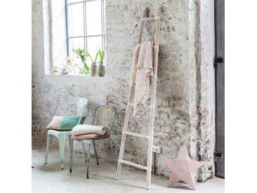 Leiter Deko Handtuchhalter Kleiderstange aus Bambus 200 cm weiß Badezimmer