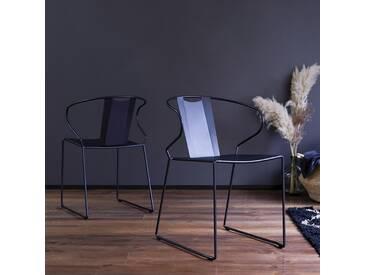 Stuhl aus Metall Schwarz Lunar