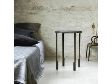 Nachttisch aus Metall und Marmor Simëon