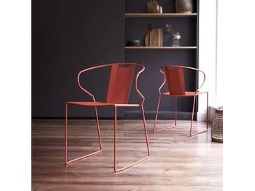 Stuhl aus Metall Orange Lunar