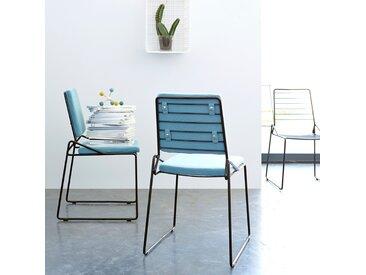 Stuhl aus Metall Happy acqua
