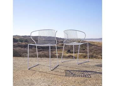 Outdoor Stuhl aus Metall Joy white