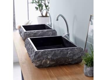 Aufsatzwaschbecken aus Marmor 50 Scrula Slim Black