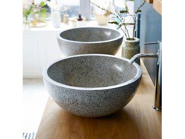Terrazzo Waschbecken Aufsatzwaschbecken für das Badezimmer Isa grau