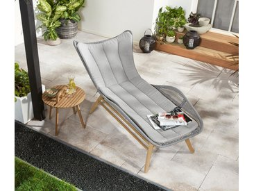 Komfort-Liegestuhl »Rope« - grau - Tchibo