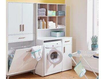 Waschmaschinenschrank - schwarz - Holz - Tchibo