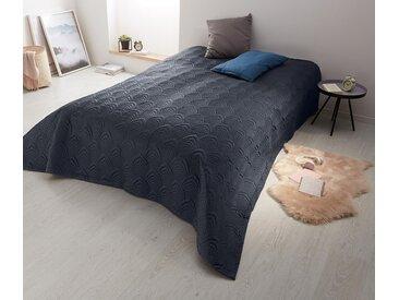 Tagesdecke - dunkelblau - 100% Baumwolle - Tchibo