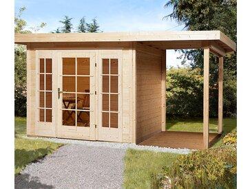 WEKA-Gartenhaus mit Flachdach und Panorama-Tür - grau - Massivholz - Tchibo