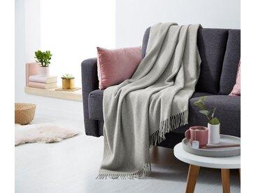 Wollplaid - Grau - Wolle - Tchibo
