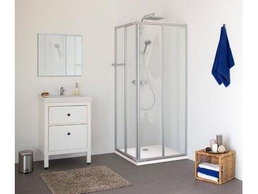 Breuer®-Dusche »Fara-Kretana« – Eckeinstieg - silber - Tchibo