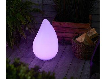 Solar-Outdoorleuchte mit LED-Farbwechsel in Tropfenform - braun - Tchibo