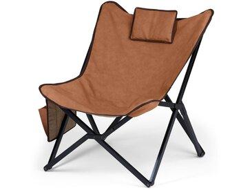 Lounge-Chair-Relaxsessel - schwarz - Leder - Tchibo