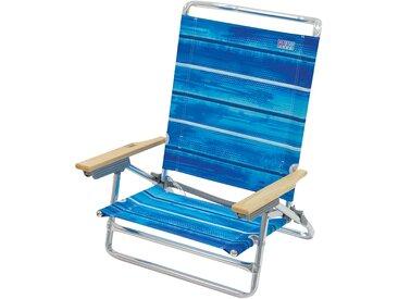 Rio Brands-Alu-Strandstuhl »Lay Flat« - Blau - Tchibo