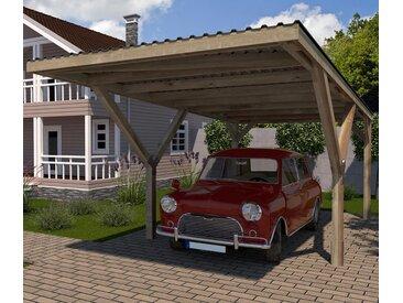 WEKA-Y-Einzel-Carport mit Flachdach - braun - Tchibo