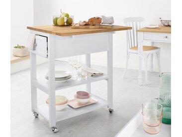 Küchen-Arbeits-Servierwagen - silber - Holz - Tchibo