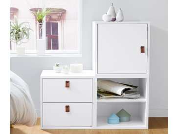 Modulwürfel mit Tür und 1 Einlegeboden - braun - Holz - Tchibo