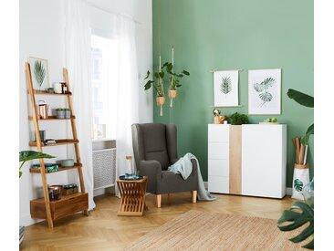 Klapphocker - naturfarben - Massivholz - Tchibo