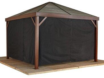 Sojag-Pavillon-Vorhang-Set - grau - Tchibo