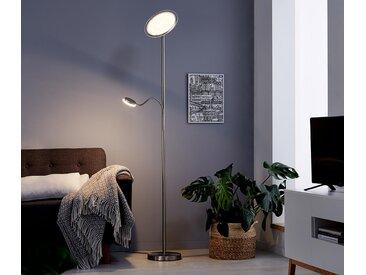 LED-Deckenfluter mit Leselicht - Silberfarben - Tchibo