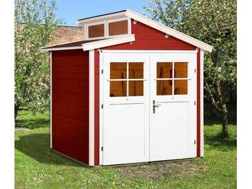 WEKA-Gartenhaus mit versetztem Satteldach - weiß - Massivholz - Tchibo