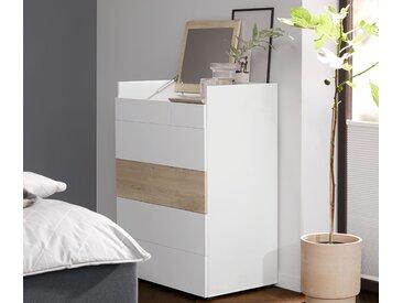 Spiegel-Schubladenkommode - braun - Holz - Tchibo