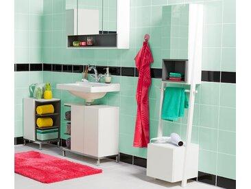 Spiegelschrank mit Handtuchhalterung »Vario-Look« - weiß - Holz - Tchibo